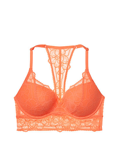Tropical Lace T-Back Push-Up Bralette ID3476786
