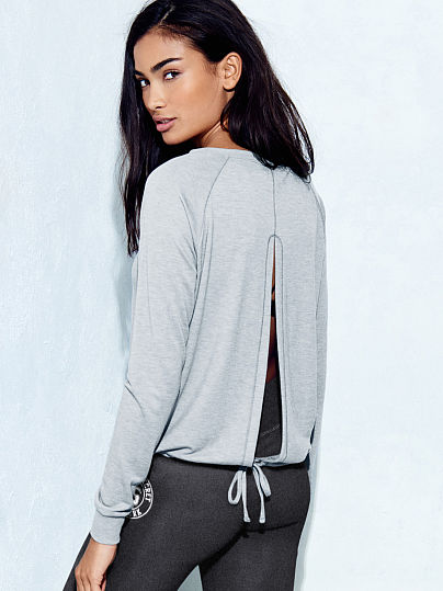 Split-back Drawstring Top