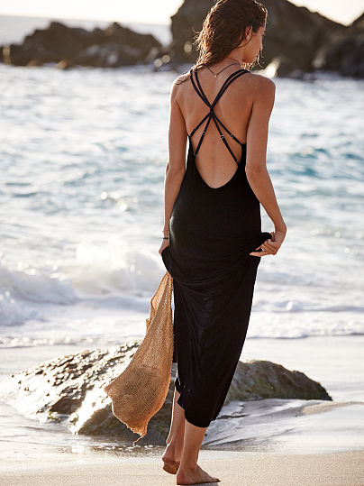 Новинка! Strappy Cover-up Maxi ID3467567