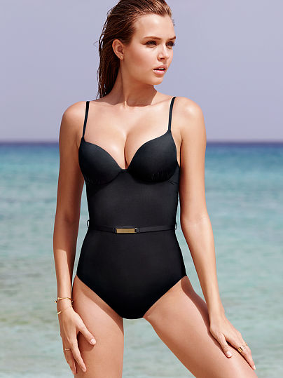 Belted Push-Up Shaping One-piece