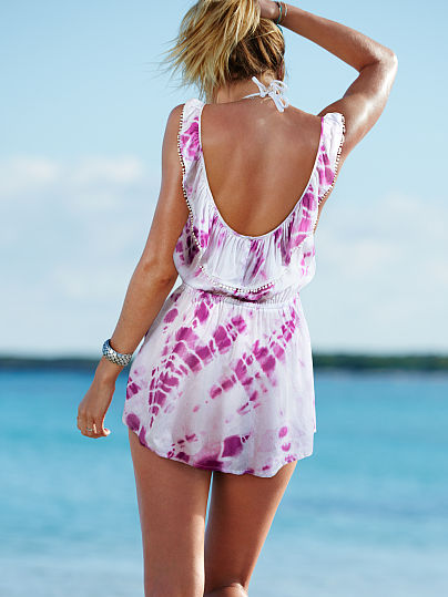Ruffle-back Cover-up Dress