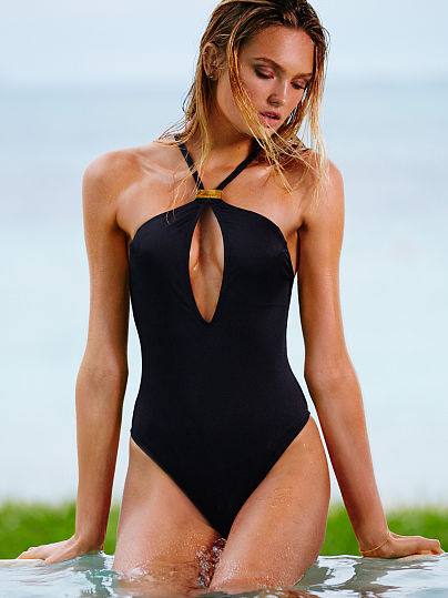 Новинка! High-neck Keyhole One-piece ID3477782