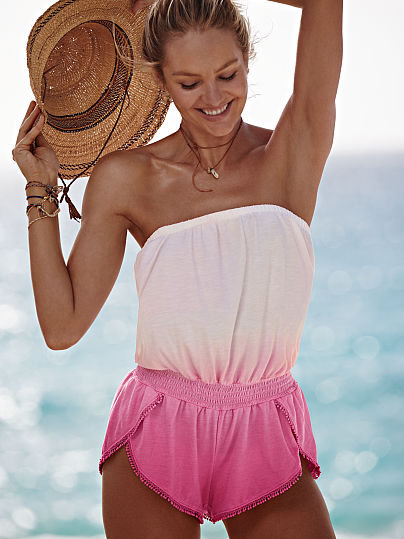 Новинка! Strapless Cover-up Romper ID3467253